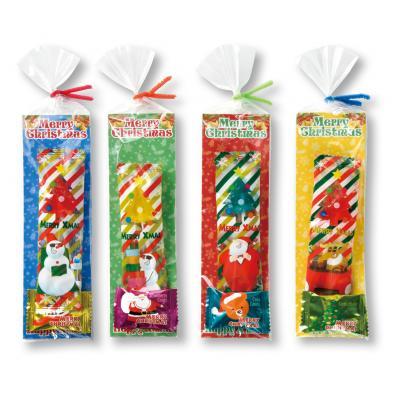 クリスマス お菓子 クリスマス キャンディパック(ミニ) クリスマス柄の棒付きキャンディとピロー包装キャンディのセット 180個セット販売 ※代引き不可商品