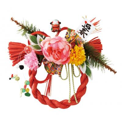迎春彩飾り 10個セット販売 お正月には欠かせないしめ飾り。お店や会場の入口に置けばイベントの雰囲気をより一層盛り上げてくれます