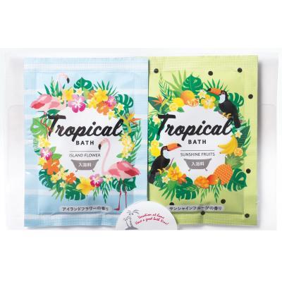 入浴剤 トロピカルクールバス25g 2個組 トロピカルリゾートをイメージした夏用美容入浴料 150個セット販売