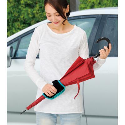 【傘カバー 大人のマナーUPに役立つ便利アイテム】 傘カバー マイクロファイバー付き吸水傘バンド 長傘を閉じる際に本品で拭き上げながら巻くと、手が濡れずに快適 180個セット販売