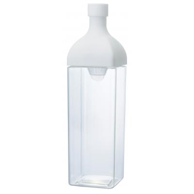 横置き保存ができる角型ボトルが新登場 HARIO 縦横置けるカークボトル1.2L 特価 日本製 予約販売 注ぎ口の内側にフィルターがついているので水出し茶を作ることもできます 1200mlの大容量 本体ボトル部分がPCT樹脂製の角型のボトル 24本セット販売