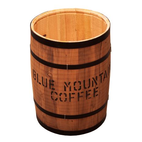 飲食店用 装飾 コーヒー樽(フタナ無し) 樽中サイズ ブラウン 生豆を入れてくるコーヒー樽を風合いから忠実に再現しております
