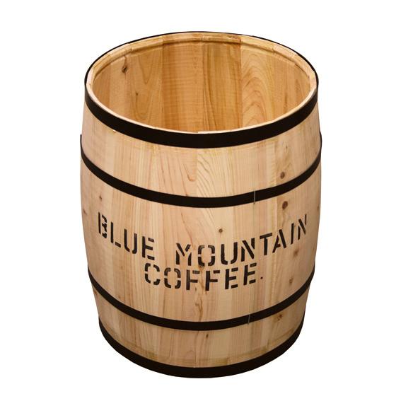 飲食店用 装飾 コーヒー樽(フタナ無し) 樽大サイズ ナチュラル 生豆を入れてくるコーヒー樽を風合いから忠実に再現しております