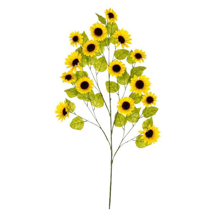 夏の装飾 ディスプレイ ひまわり 大枝サンフラワー 花の直径8~10cm 6本セット販売