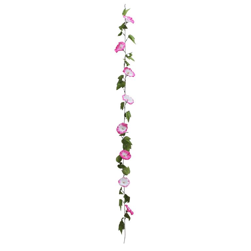 朝顔 ディスプレイ 装飾 朝顔ガーランド(ピンク)12個セット販売