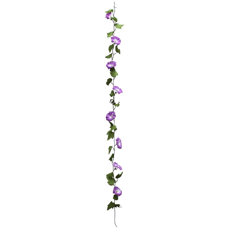 朝顔 ディスプレイ 装飾 朝顔ガーランド 紫 12個セット販売