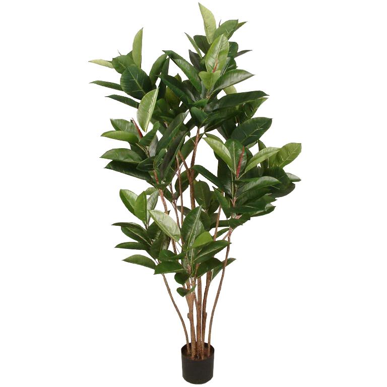 観葉植物 造花 ディスプレイ ゴムの木 150cm 室内装飾のアクセントに最適 【代引き不可商品】