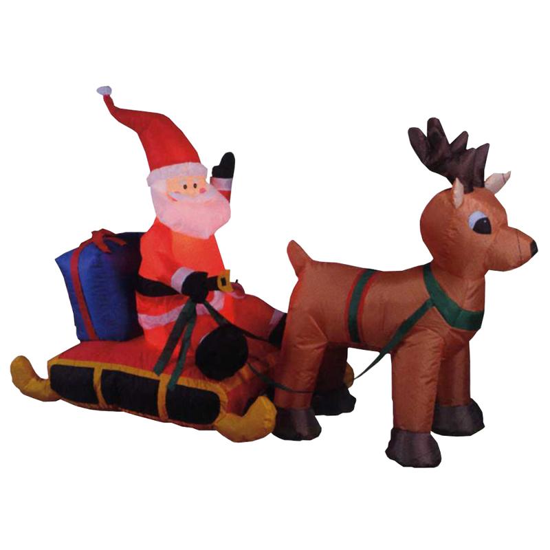 クリスマス ディスプレイ Mサイズ サンタソリ 142cm 室内用 インスタ映えスポットに