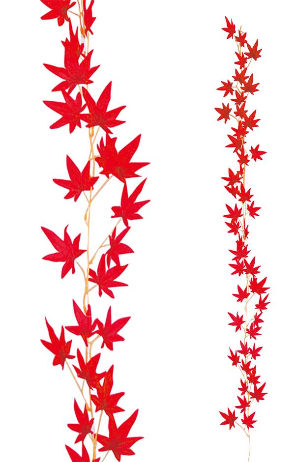 秋の装飾 紅葉 もみじガーランド180cm 24本セット販売