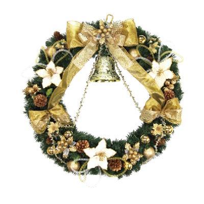 クリスマス リース 80cm エダリースゴールドベル 天然素材