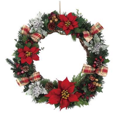 クリスマス リース 50cm エダリースレッドナチュラル 天然素材