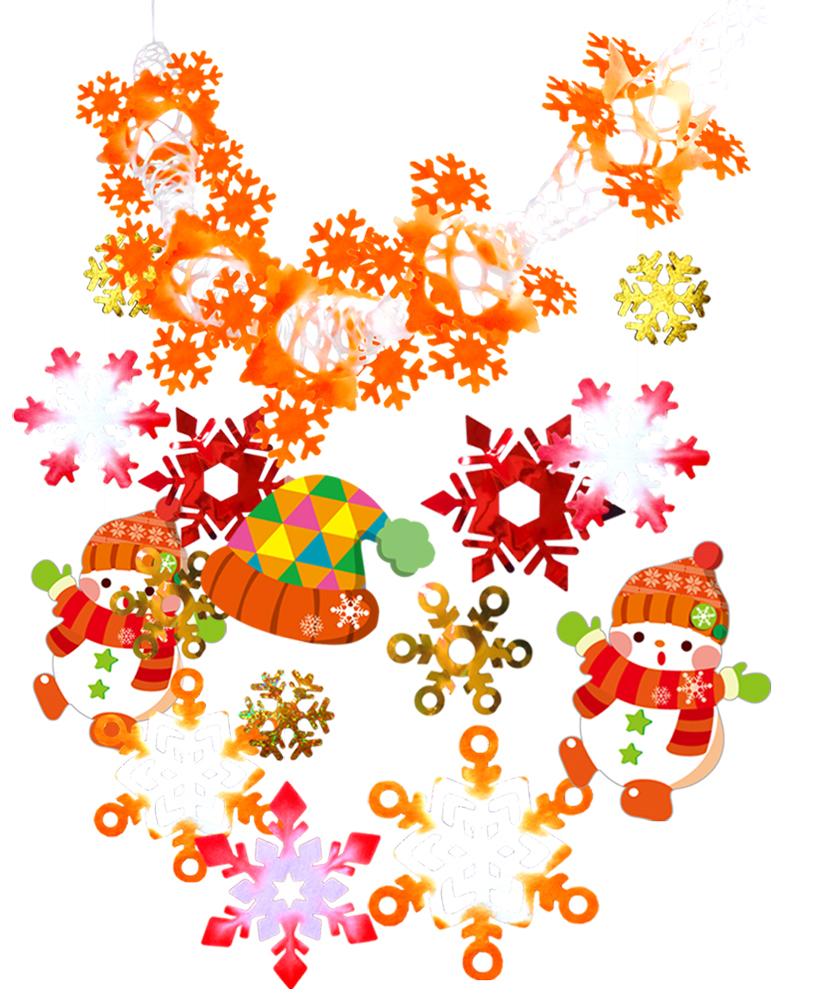 超歓迎された クリスマス 装飾 ディスプレイ あったか雪道 ネットガーランド 45×24×180cm 品質検査済 天井から吊るして装飾