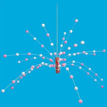 正月 ディスプレイ 新餅花センター 12個セット販売 60×110cm