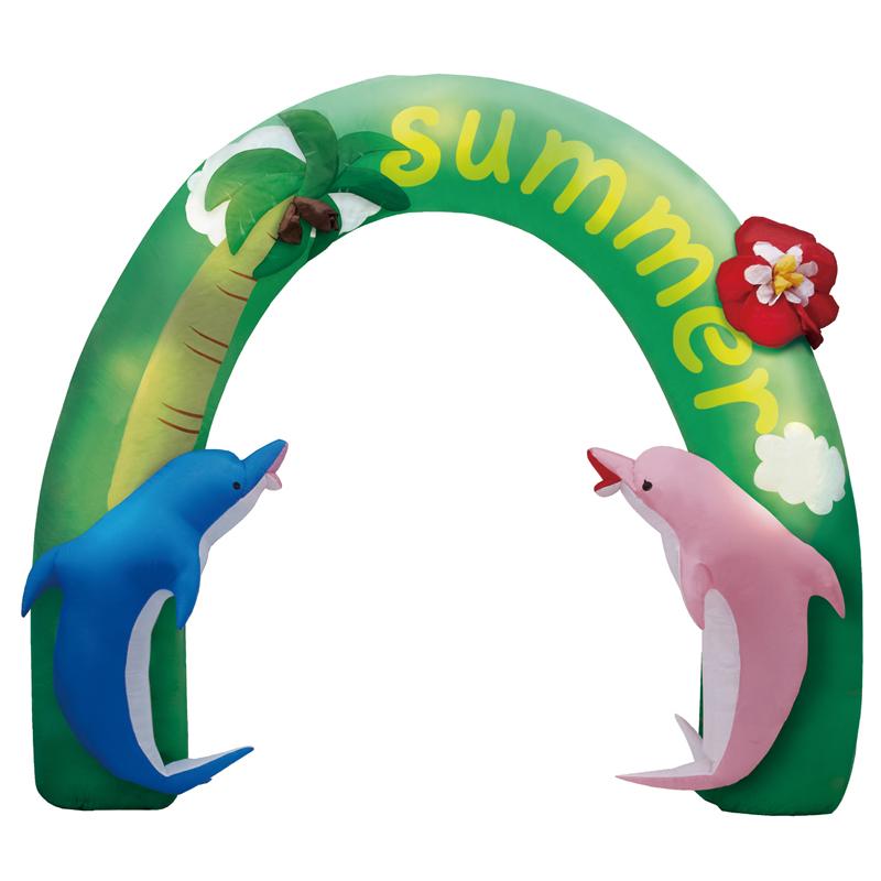 夏の装飾 ディスプレイ エアディスプレイ アーチサマー 280cm 室内用 常点灯
