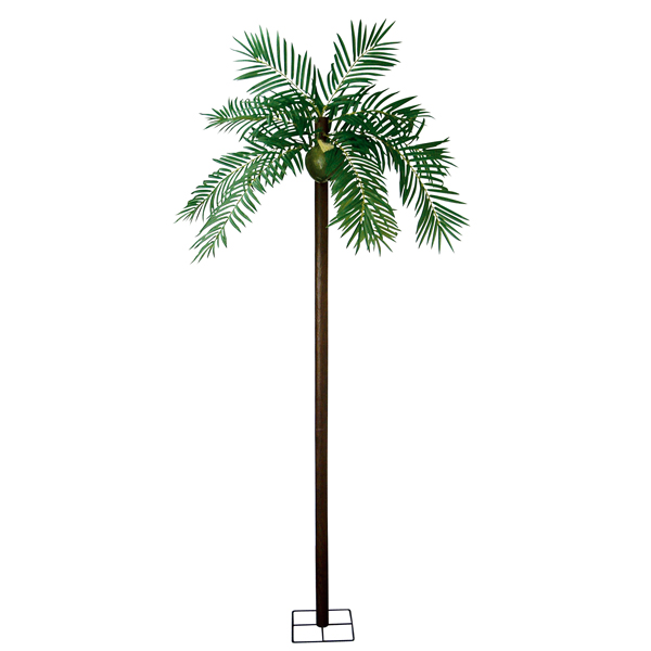 ヤシの木ディスプレイ  ヤシ立木200cm 観葉植物 造花装飾 2分割商品【代引き不可商品】