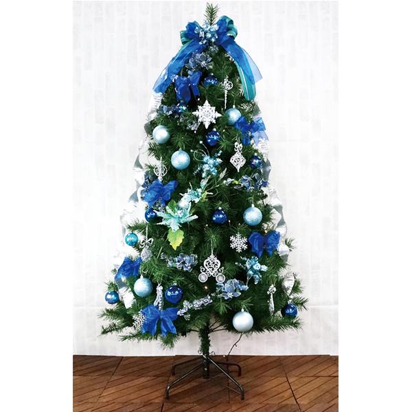 クリスマスツリー 180cm カナディアンツリーセットブルー 3分割【代引き不可商品】