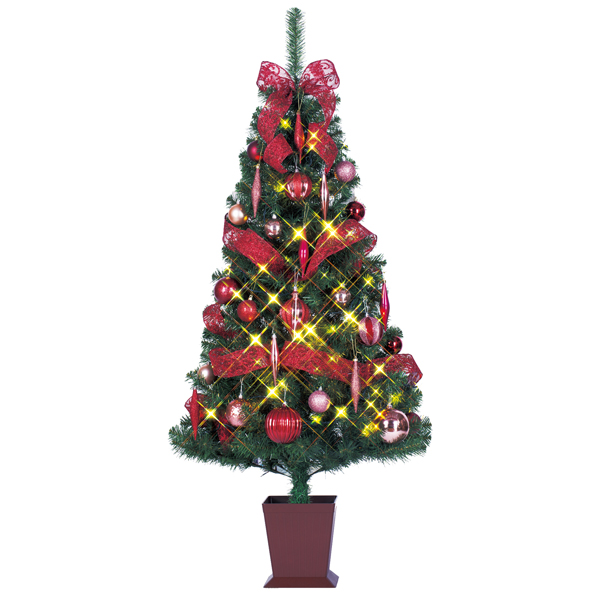 【120cm クリスマスツリー デザインツリー】 クリスマスツリー セットツリー モーブ 120cm 四角ポット付き お客様組み立て商品 クリスマス装飾 ディスプレイ