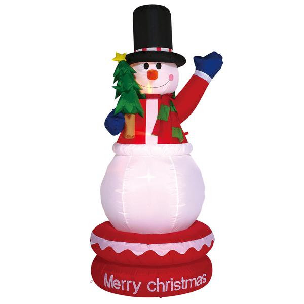 クリスマス OUTLET 激安通販 SALE ムービング 動く エアディスプレイ スノーマンが動く ムービングエアディスプレイ 高さ約180cm スノーマンツリー