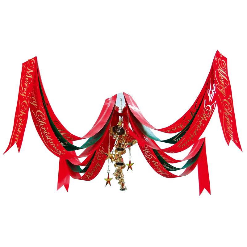 クリスマス 装飾 クリスマス ビッグセンターベルペナント 180cm