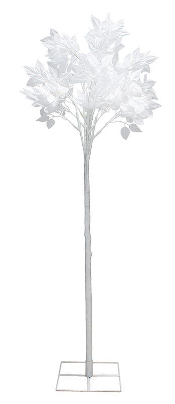 クリスマス 装飾 ホワイトリーフツリー 白い葉の木(造花) お客様組み立て商品 【代引き不可商品】 190cm