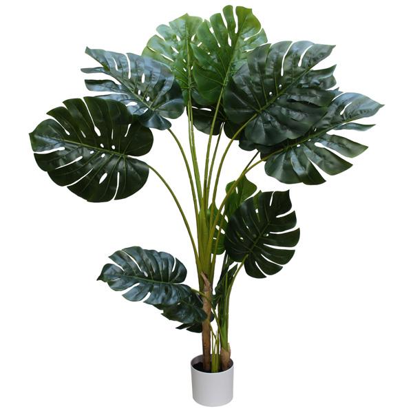 観葉植物 造花 ディスプレイ モンステラツリー 150cm 光触媒 【代引き不可商品】