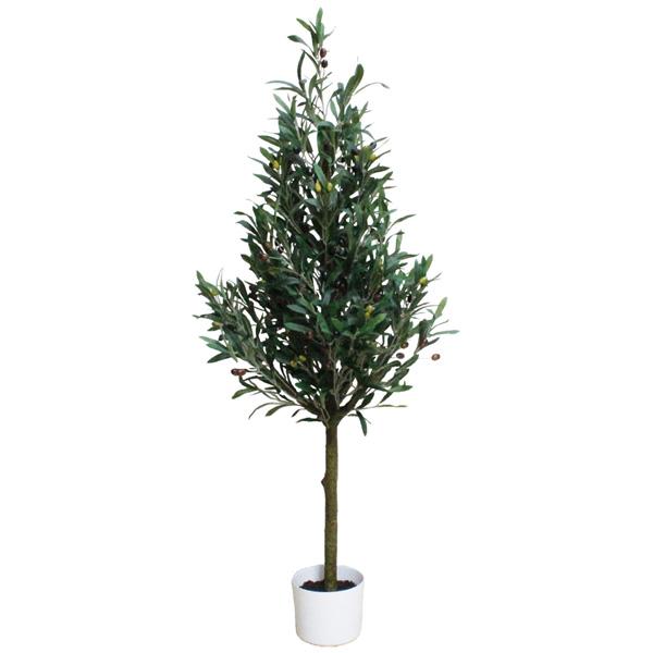 観葉植物 造花 ディスプレイ オリーブツリーA 120cm 光触媒加工 【代引き不可商品】