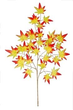 秋の紅葉装飾 もみじ 店舗装飾 スプレイ 紅葉 オレンジ もみじ造花ディスプレイ オンライン限定商品 店舗装飾品 ディスプレイ飾り 24個セット販売 人気商品