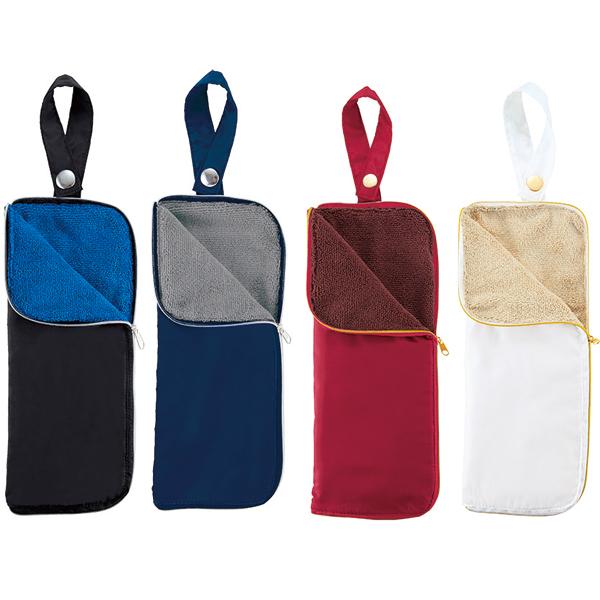 【不快な濡れた傘の持ち運びを解消 傘カバー】 ポータブルマルチ傘カバー コンパクトに畳めます 名入れ可能商品 100セット販売