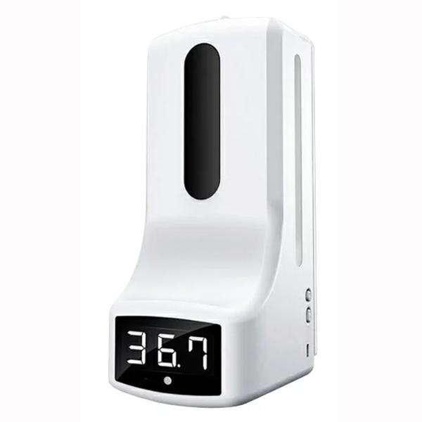 触れずに検温 除菌 手をかざすだけ 美品 センサー式温度計 除菌ディスペンサー 1000mL 壁掛け式 1リットル 非接触 美品 自動噴射 オートディスペンサー 大容量の温度計