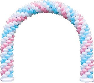 クラスターバルーン クラスターアーチセット G 風船を膨らませて骨組みに通すだけ 店頭装飾 目立つ装飾 【代引き不可商品】