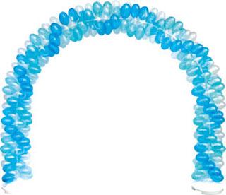 クラスターバルーン クラスターアーチセット Q 風船を膨らませて骨組みに通すだけ 店頭装飾 目立つ装飾 【代引き不可商品】