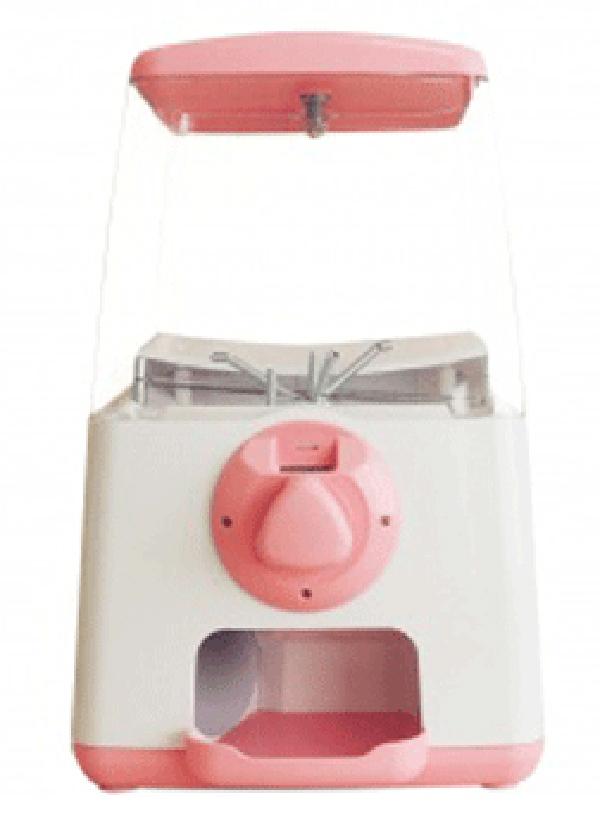 ガチャマシーン GACHA CUBE(ガチャキューブ) 500円硬貨仕様 本体 ピンク 卓上設置タイプのガチャガチャ ※カプセルは別売りです