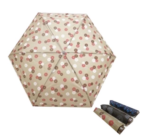 折たたみ傘 プリント折たたみ傘 53cm 60本販売 花柄3種アソート 折りたたみ傘 ※代引不可