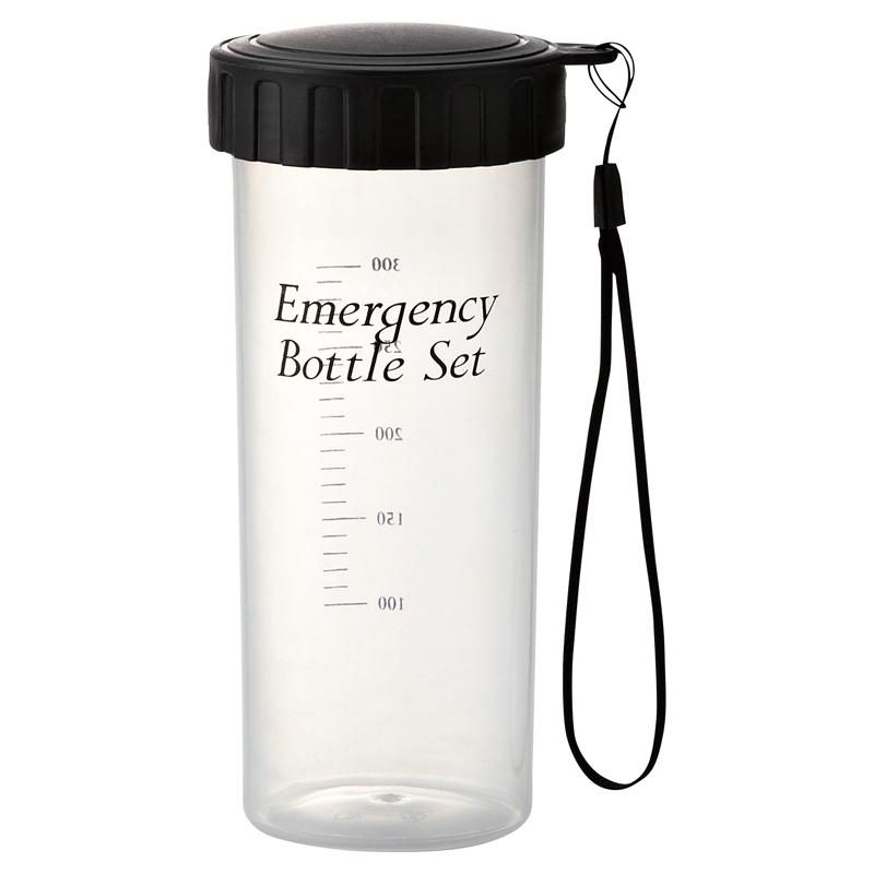スマートエマージェンシーボトル6点セット 液体を入れられるスタイリッシュなボトルに防災グッズが入った 30個セット販売