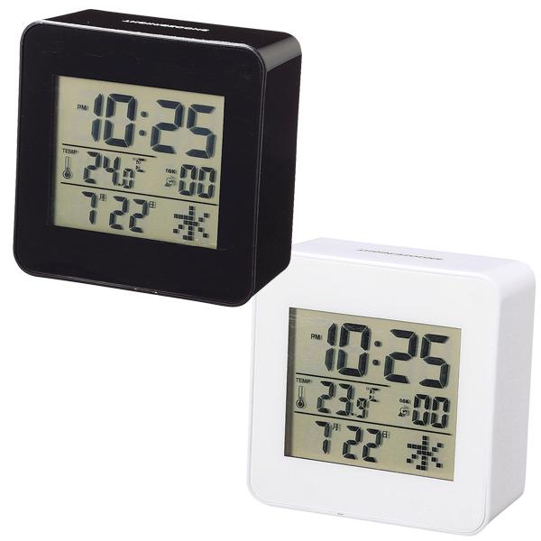 デジタル卓上電波時計 ブルーノバックライトがおしゃれ 卓上電波時計 96個セット販売