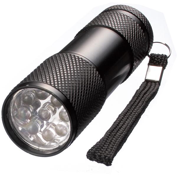 9灯式LEDパワーライト パワフル照射アルミライト ストラップ付 80個セット販売