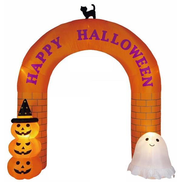 ハロウィン装飾 エアブロー 即日出荷 ビッグサイズ ハロウィン エアーディスプレイ 320cm ハロウィンアーチ 期間限定特価品 エアブロウ 店舗装飾品 ハロウィンディスプレイ