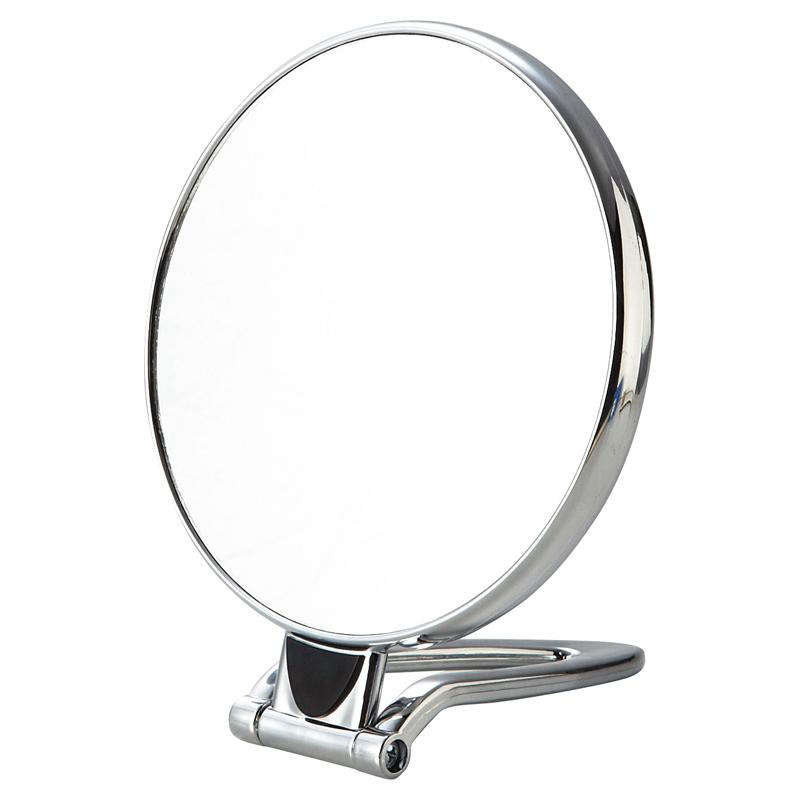 2WAYリバーシブルラウンドミラー(シルバー)手持ち・スタンドの2WAY手鏡 60個セット販売