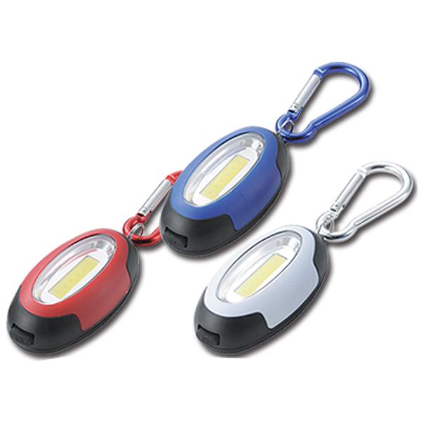 驚異的な明るさ パワフルLEDキーライト(マグネット付き)バッグや腰に装着して携帯しやすいカラビナ付き 120個セット販売 【名入れ可能商品】