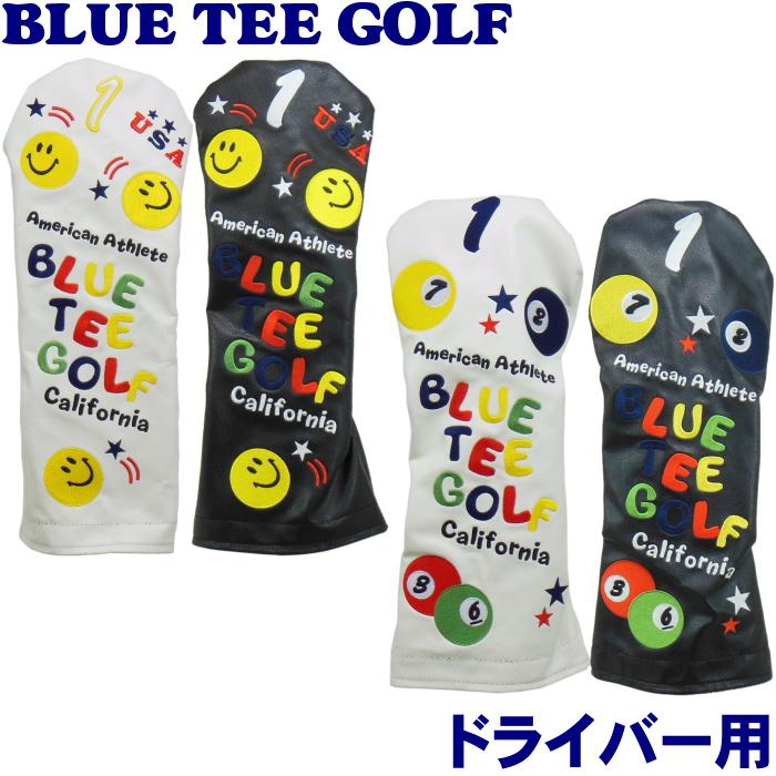 訳あり商品 即納 BLUE TEE GOLF ファッション通販 ドライバー用 ヘッドカバー ブルーティーゴルフ スマイルピンボール
