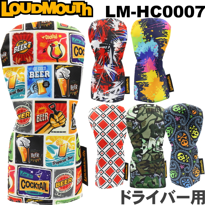 即納 LOUDMOUTH ラウドマウス ドライバー用ヘッドカバー DR レトロタイプ LM-HC0007 高級な タイムセール