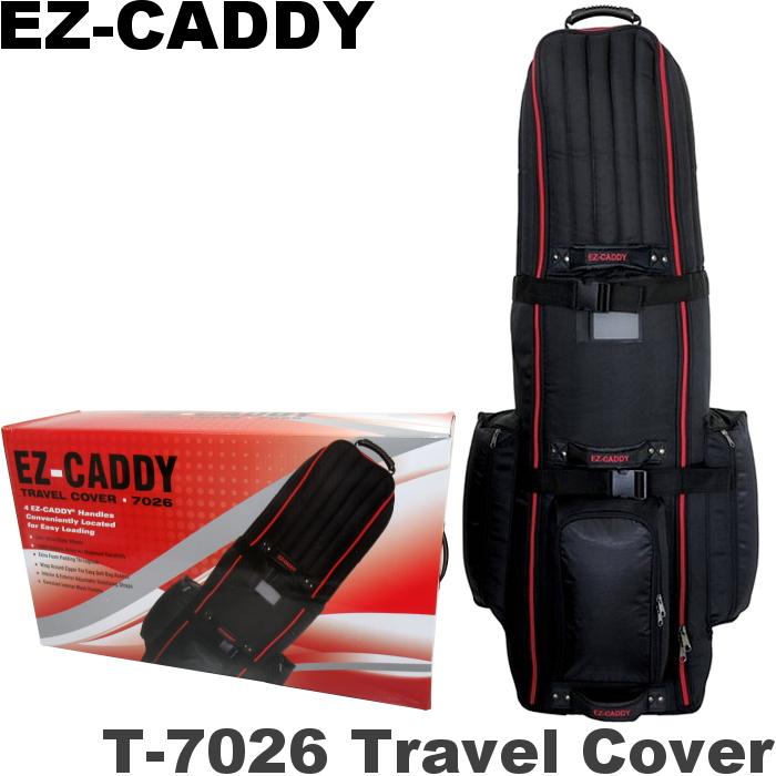 即納 キャスター付 進化版モデル 割引も実施中 EZキャディー ローラー付トラベルカバー 8.5-9.5インチキャディバッグ対応 秀逸 T-7026
