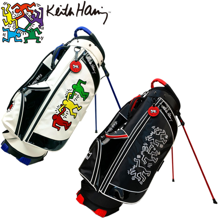 キースヘリング KHCB-02 スタンド キャディバッグ 9型 ユニセックスモデル 【Keith Haring キース・ヘリング】