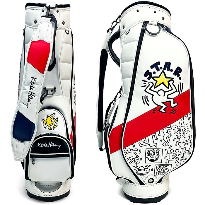 キースヘリング KHCB-06 キャディバッグ American flag × Pattern 9型 【Keith Haring キース・ヘリング】