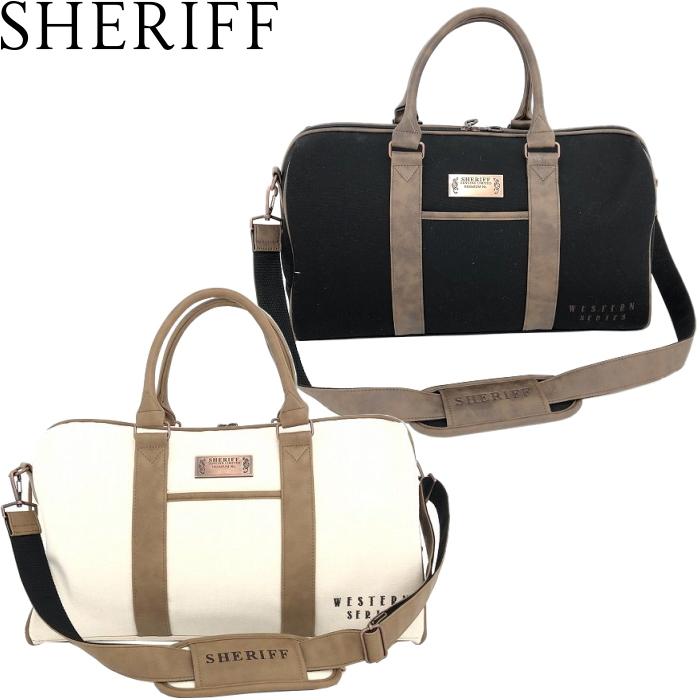SHERIFF シェリフ ウエスタンシリーズ 帆布 ボストンバッグ SFW-009