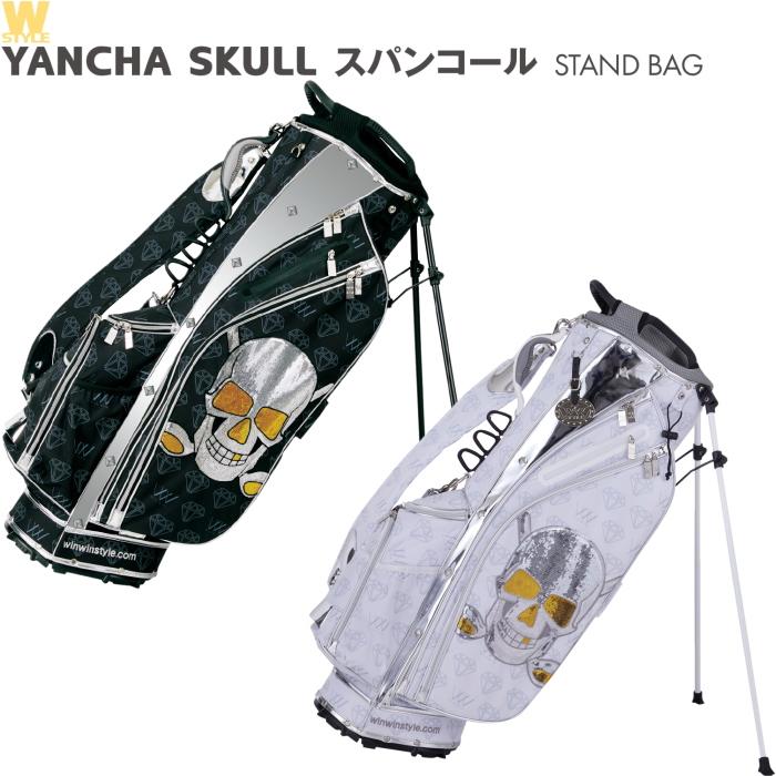 WINWIN STYLE ウィンウィンスタイル YANCHA SKULL スパンコール スタンドバッグ (ヤンチャスカル/W-STYLE)
