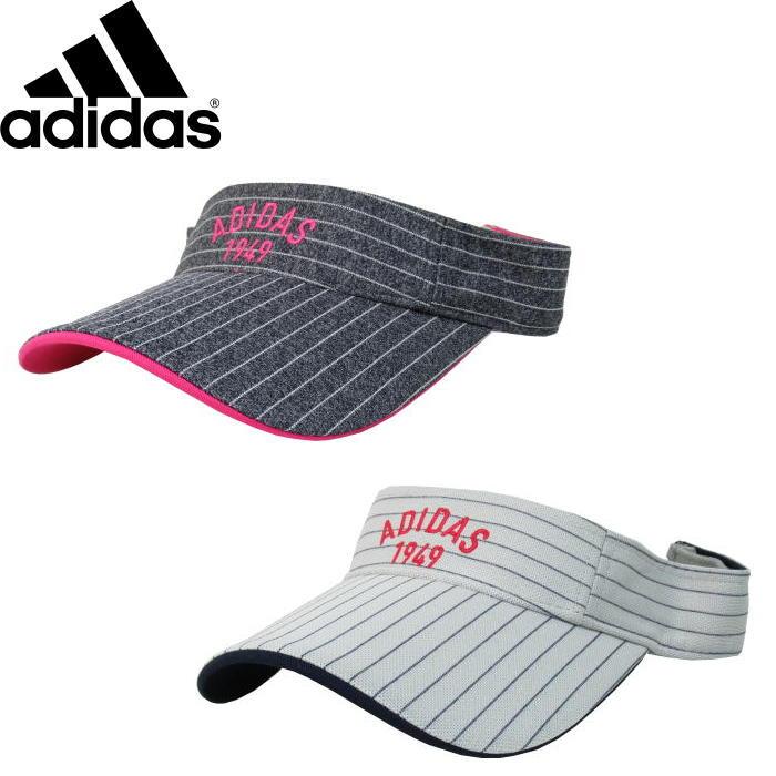 即納 郵便発送可 adidas アディダス CCQ79 ストライプ バイザー ウィメンズ ゴルフ レディース 女性用 いつでも送料無料 サンバイザー 在庫一掃