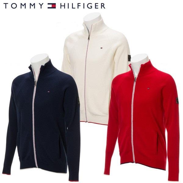 Tommy Hilfiger MEN'Sメンズ フラッグ ジップアップセータートミーヒルフィガー ゴルフウェア
