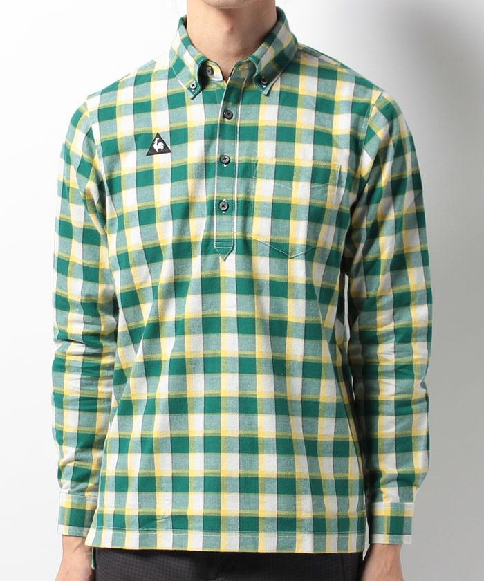 le coq sportif MEN'S ルコックスポルティフ メンズチェックシャツQG1078