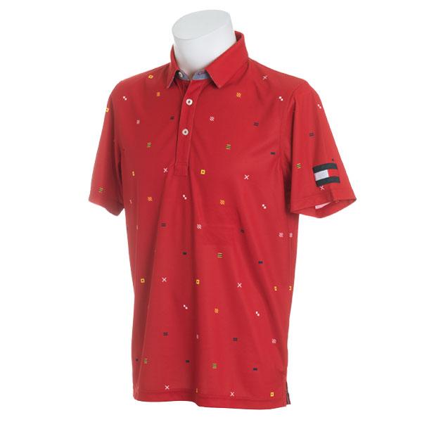 Tommy Hilfiger GOLF Men'sトミーヒルフィガー ゴルフ メンズ ノーティカルフラッグ半袖ポロシャツTHMA845